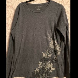 Eddie Bauer Gray Long Sleeve T-shirt